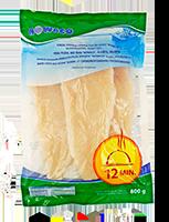 Šaldytų, glazūruotų ilgųjų jūrinių lydekų filė be odos, 800 g