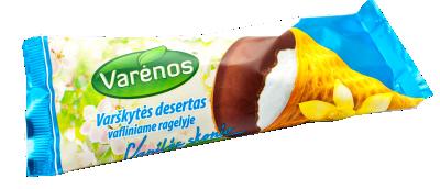 VARĖNOS vanilės skonio desertas su varške, 39g